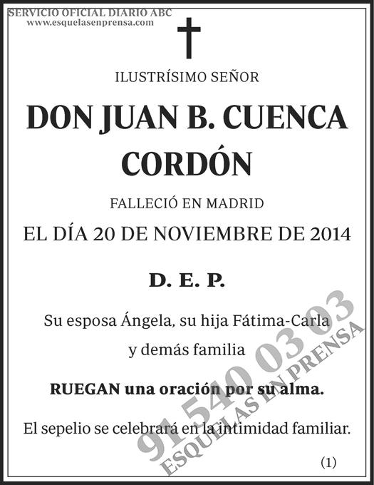 Juan B. Cuenca Cordón